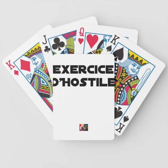 Exercise of Hostile - Word games François City Bicycle Playing Cards