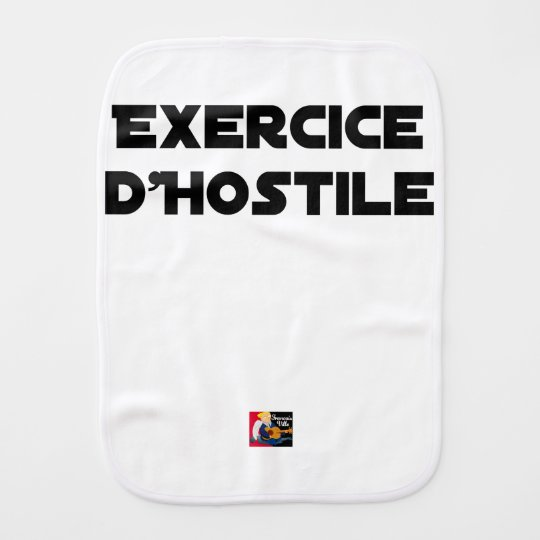 Exercise of Hostile - Word games François City Burp Cloth