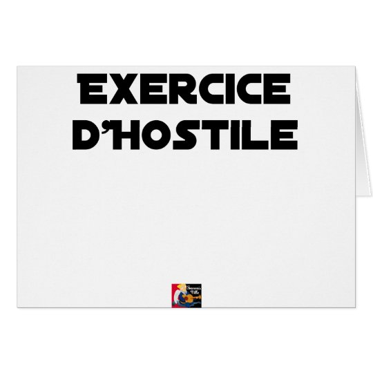 Exercise of Hostile - Word games François City Card