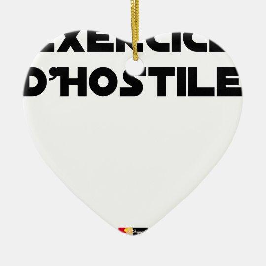 Exercise of Hostile - Word games François City Ceramic Ornament