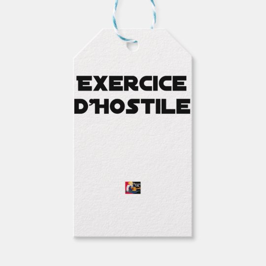 Exercise of Hostile - Word games François City Gift Tags