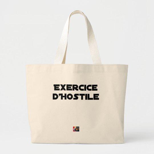 Exercise of Hostile - Word games François City Large Tote Bag