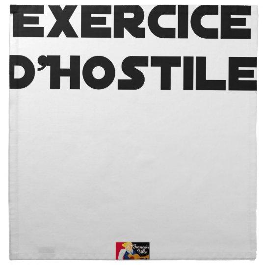 Exercise of Hostile - Word games François City Napkin