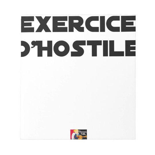 Exercise of Hostile - Word games François City Notepad