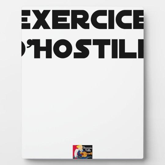 Exercise of Hostile - Word games François City Plaque