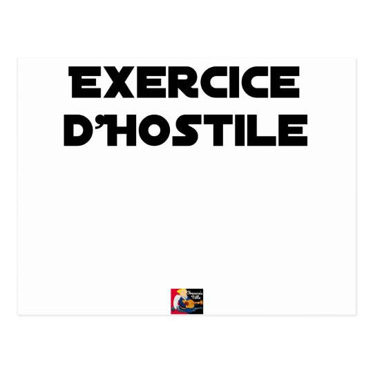 Exercise of Hostile - Word games François City Postcard