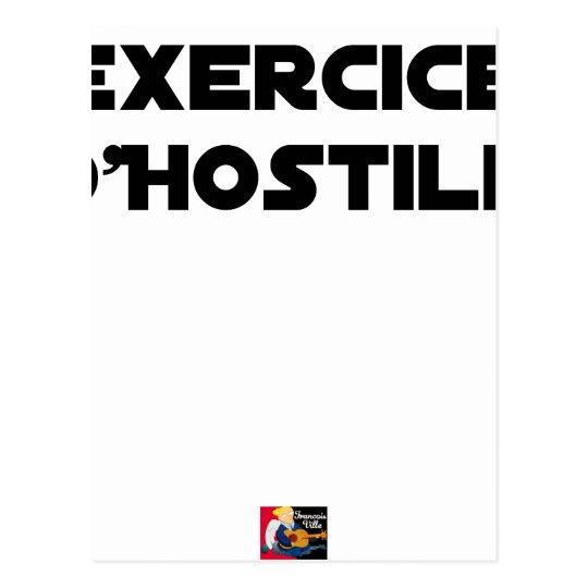 Exercise of Hostile - Word games François City Postcard