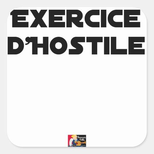 Exercise of Hostile - Word games François City Square Sticker