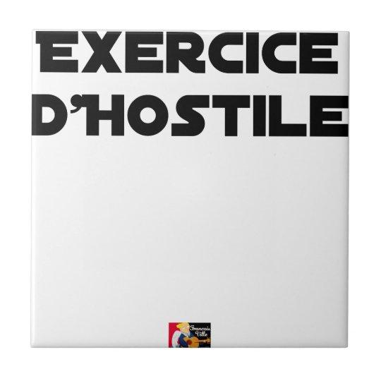 Exercise of Hostile - Word games François City Tile