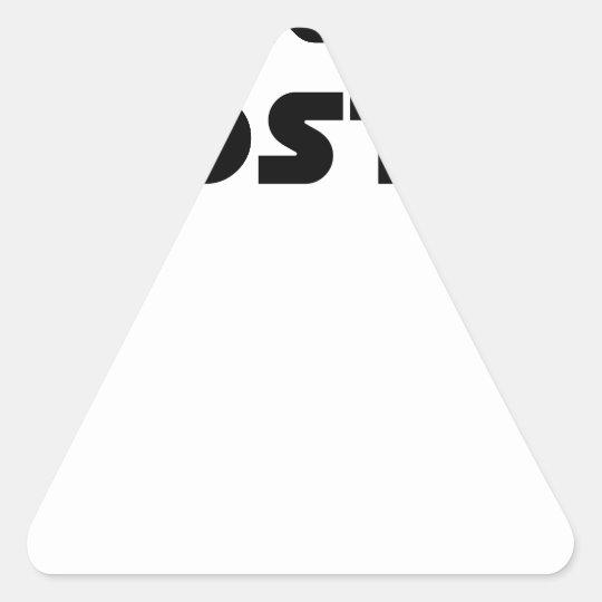Exercise of Hostile - Word games François City Triangle Sticker