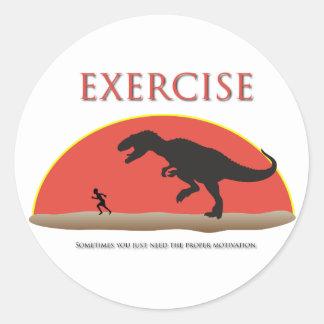 Exercise - Proper Motivation Round Sticker