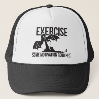 Exercise, Some Motivation Required, Dragon - Funny Trucker Hat