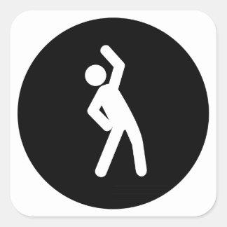 Exercise Square Sticker