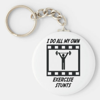 Exercise Stunts Keychain