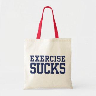 Exercise Sucks Budget Tote Bag