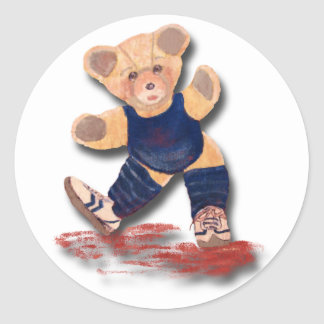 Exercise Teddy Bear Sticker