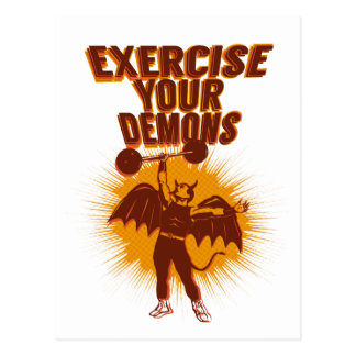 Exercise Your Demons Postcard