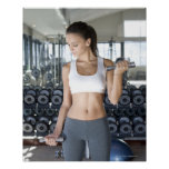 Exercising, Gym, Sport, Woman, Body care, Day, Print