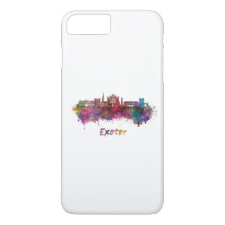 Exeter skyline in watercolor iPhone 8 plus/7 plus case