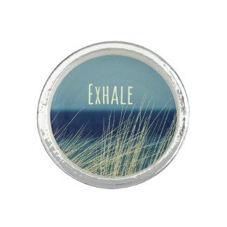 Exhale Calming Ocean Scene Ring