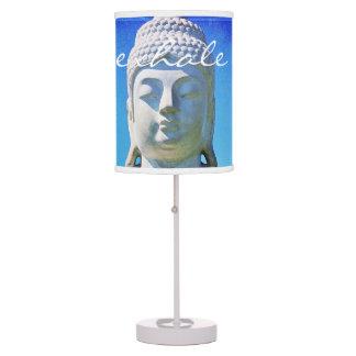 """Exhale"" Hawaiian white Buddha photo table lamp"