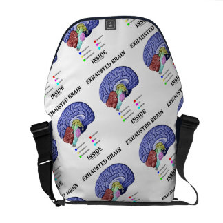 Exhausted Brain Inside Anatomical Brain Humor Commuter Bag