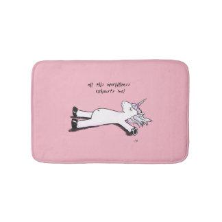 Exhausted Unicorn Bathroom Mat