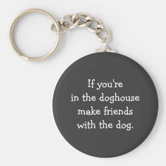 Exile to the Doghouse Silly Advice Keychain