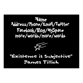 Existence Is Subjective Large Business Card