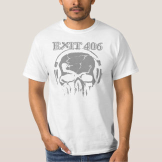 Exit 406 Gray Skull T-Shirt