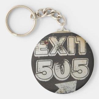 Exit 505 basic round button keychain