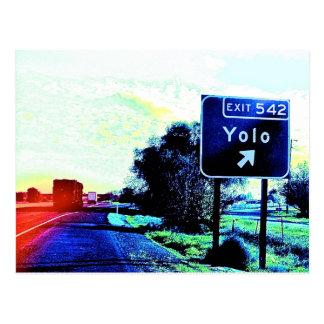 Exit 542 Yolo California Postcard