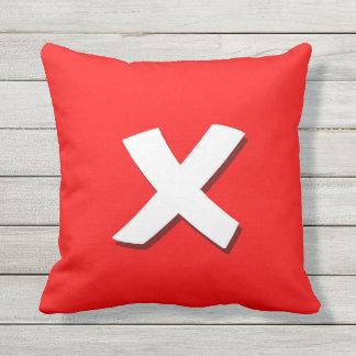 Exit button square pillow