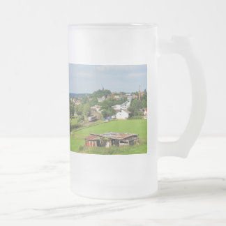 Exit from Frankenberg Frosted Glass Beer Mug