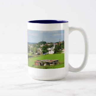 Exit from Frankenberg Two-Tone Coffee Mug