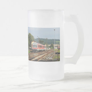 Exit from Glauburg Stockheim Frosted Glass Beer Mug