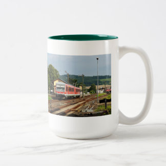 Exit from Glauburg Stockheim Two-Tone Coffee Mug