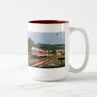 Exit from Glauburg Stockheim Two-Tone Coffee Mug