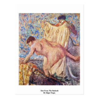 Exit From The Bathtub By Edgar Degas Postcard