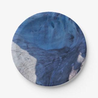 Exit Glacier Waves Paper Plate