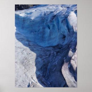 Exit Glacier Waves Poster