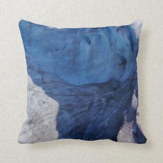 Exit Glacier Waves Throw Pillow