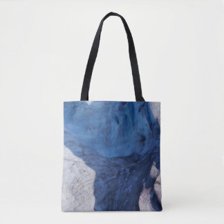 Exit Glacier Waves Tote Bag