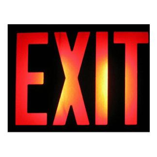 Exit Postcard