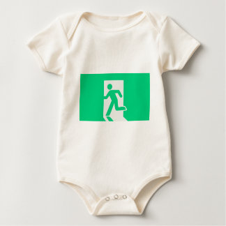 Exit Sign Baby Bodysuit