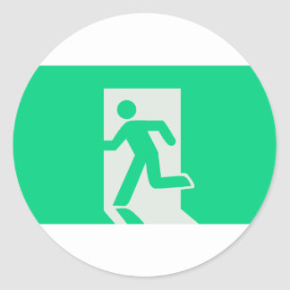 Exit Sign Classic Round Sticker