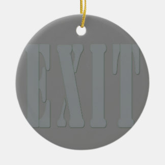 EXIT SIGN GREY CHRISTMAS ORNAMENTS