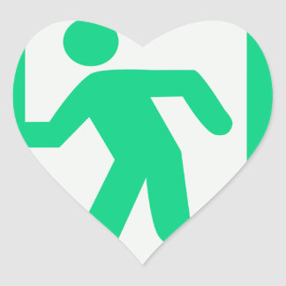 Exit Sign Heart Sticker