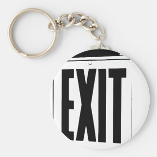 exit sign keychain