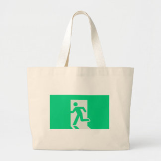 Exit Sign Large Tote Bag